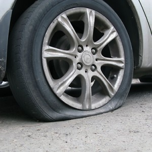 Run flat tyre with puncture