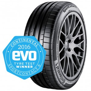 SportContact wins evo tyre test 2016