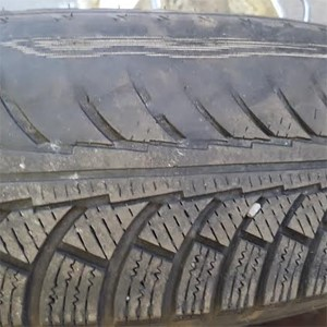 A worn tyre can effect stopping distance