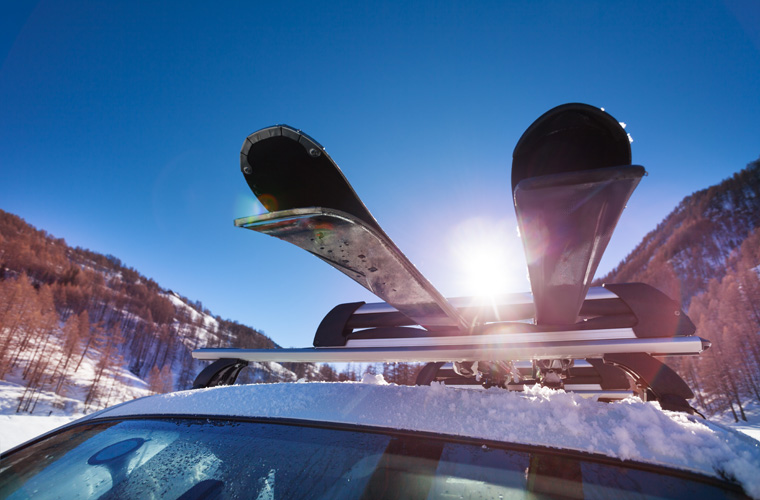 driving to alps skis