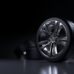 A concept image of a premium tyre on its tread
