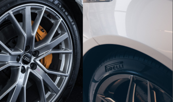 Eagle F1 and Pirelli tyres with wheel protectors